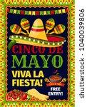 cinco de mayo mexican holiday...   Shutterstock .eps vector #1040039806
