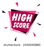 high score  greeting card or... | Shutterstock .eps vector #1040040880