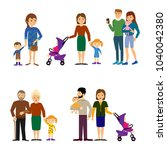 people  couples  parents with... | Shutterstock .eps vector #1040042380