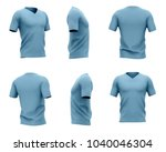men's blue v neck t shirt with... | Shutterstock . vector #1040046304