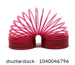 red sping toy isolated on white ... | Shutterstock . vector #1040046796