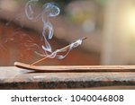 Incense Stick And Smoke From...