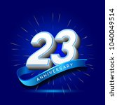 23rd anniversary with ribbon  ... | Shutterstock .eps vector #1040049514