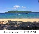 scene of tranquility island ... | Shutterstock . vector #1040053168