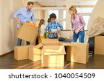family moving out. people... | Shutterstock . vector #1040054509