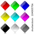 colored and glossy rhombus... | Shutterstock . vector #104005706