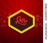 retro light frame illustration. ... | Shutterstock .eps vector #1040057800