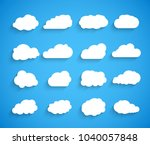 clouds vector set. sky clouds... | Shutterstock .eps vector #1040057848