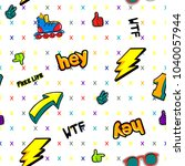 abstract seamless comics style... | Shutterstock .eps vector #1040057944