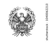 Spqr Symbol Of Roman Empire...