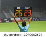 Small photo of referee hole substitution board