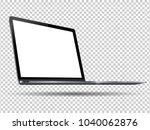 laptop with blank screen to...