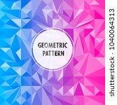 vector asymmetric pattern with... | Shutterstock .eps vector #1040064313