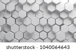 abstract white hexagonal... | Shutterstock . vector #1040064643