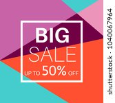 big sale banner for online... | Shutterstock .eps vector #1040067964