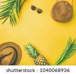 colorful summer female fashion... | Shutterstock . vector #1040068936