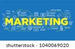 illustration of creative banner ... | Shutterstock .eps vector #1040069020