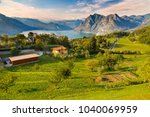 the island is in the center of...   Shutterstock . vector #1040069959