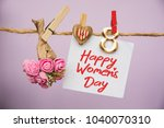 happy women's day card....   Shutterstock . vector #1040070310