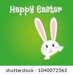 easter rabbit  easter bunny   Shutterstock .eps vector #1040072563