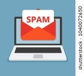 spam mailbox concept  vector...   Shutterstock .eps vector #1040072650