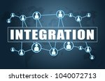 integration   text concept on... | Shutterstock . vector #1040072713