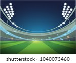 sports stadium with lights  eps ... | Shutterstock .eps vector #1040073460