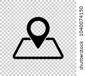 label on map. simple silhouette....