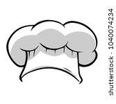 classic chef's white hat | Shutterstock .eps vector #1040074234