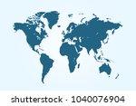 political world map   Shutterstock .eps vector #1040076904
