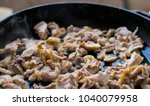 preparation of roasted chopped... | Shutterstock . vector #1040079958
