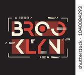 broolklyn vector t shirt and... | Shutterstock .eps vector #1040084293