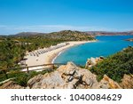 famous beach at vai with... | Shutterstock . vector #1040084629