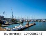 fisherman's wharf in san... | Shutterstock . vector #1040086348