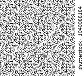 botanical seamless pattern with ... | Shutterstock .eps vector #1040088184