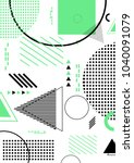 pattern background with lines ... | Shutterstock .eps vector #1040091079