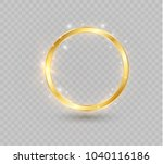 abstract luxury golden ring.... | Shutterstock .eps vector #1040116186