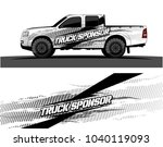 truck and vehicle graphic... | Shutterstock .eps vector #1040119093