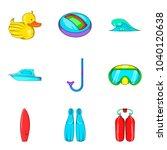 aquatic wellness icons set....   Shutterstock .eps vector #1040120638