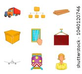 wholesale warehouse icons set....   Shutterstock .eps vector #1040120746