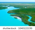 aerial view of the mangroves... | Shutterstock . vector #1040122150