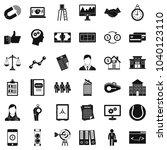 economic partnership icons set. ... | Shutterstock .eps vector #1040123110