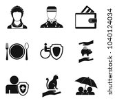oral folklore icons set. simple ... | Shutterstock .eps vector #1040124034