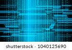 binary circuit board future... | Shutterstock .eps vector #1040125690