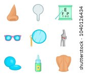 surgical manipulation icons set.... | Shutterstock .eps vector #1040126434