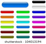 colorful web empty buttons... | Shutterstock . vector #104013194