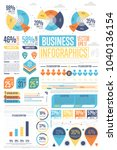 business infographics set with... | Shutterstock . vector #1040136154