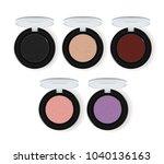 realistic makeup cosmetics set... | Shutterstock . vector #1040136163