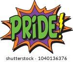 pride comic burst | Shutterstock .eps vector #1040136376
