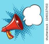 cartoon megaphone. loudspeaker... | Shutterstock .eps vector #1040137453